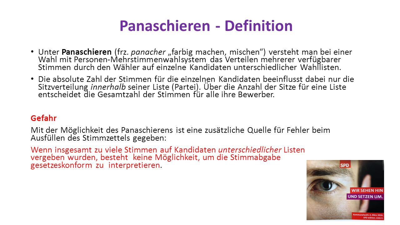 Panaschieren - Definition Unter Panaschieren (frz.