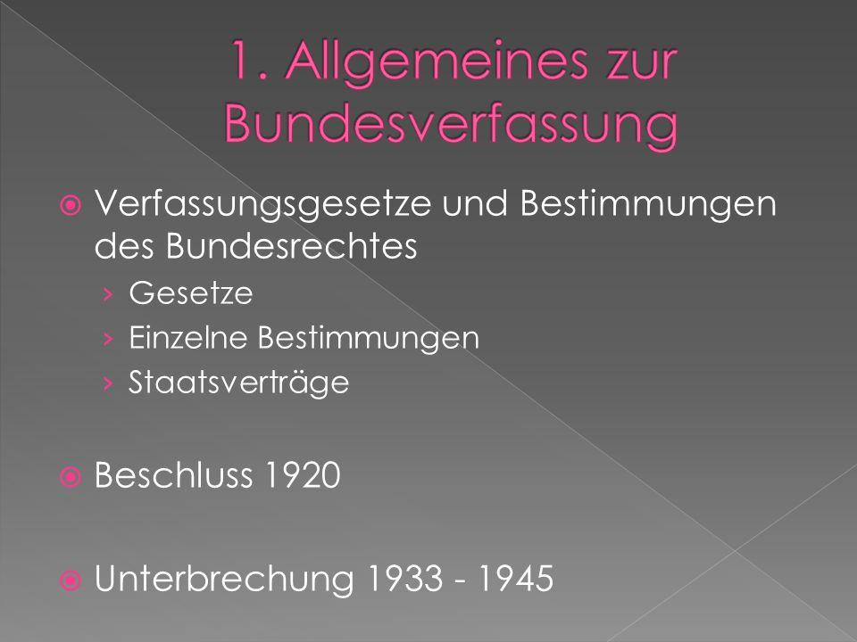  Verfassungsgesetze und Bestimmungen des Bundesrechtes › Gesetze › Einzelne Bestimmungen › Staatsverträge  Beschluss 1920  Unterbrechung 1933 - 1945