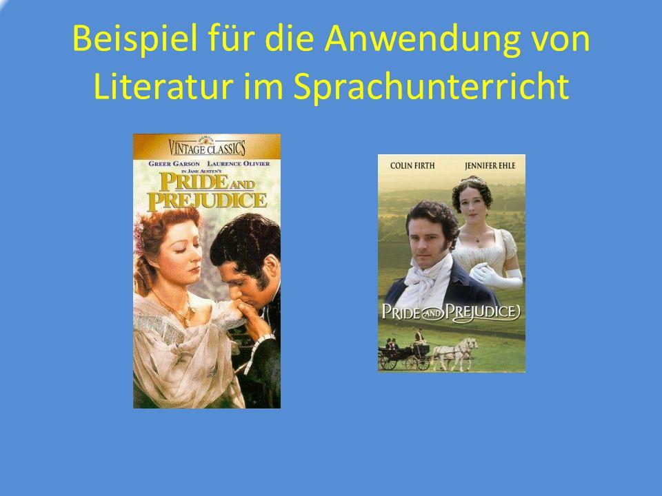 Beispiel für die Anwendung von Literatur im Sprachunterricht
