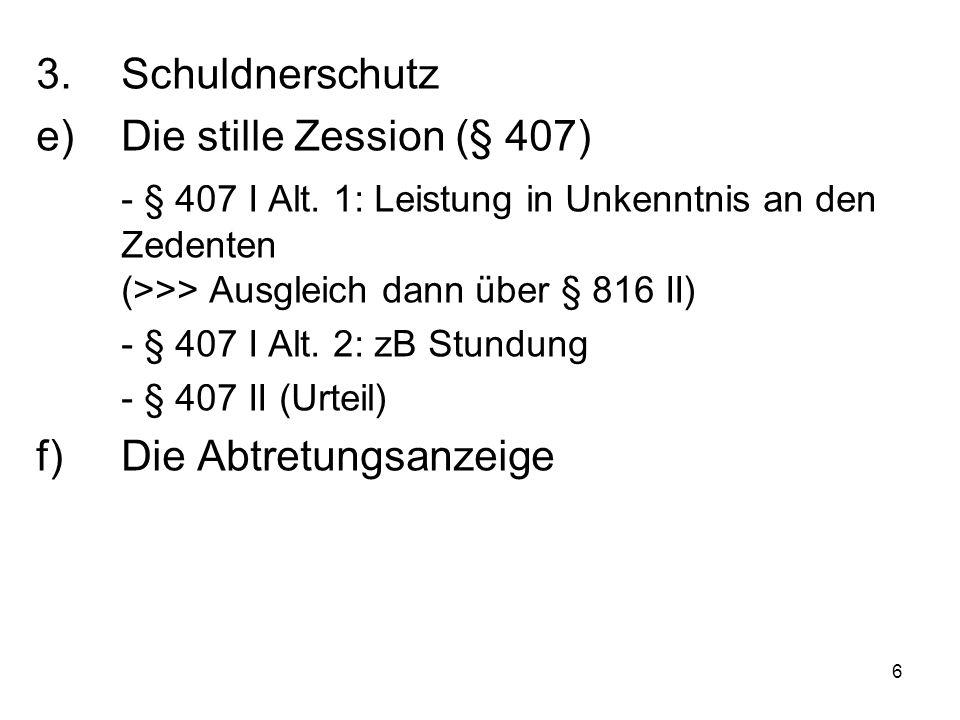 """17 Die gestörte Gesamtschuld -Lösung zulasten des (wegen § 1664) privilegierten """"Gesamtschuldners (hier E)."""