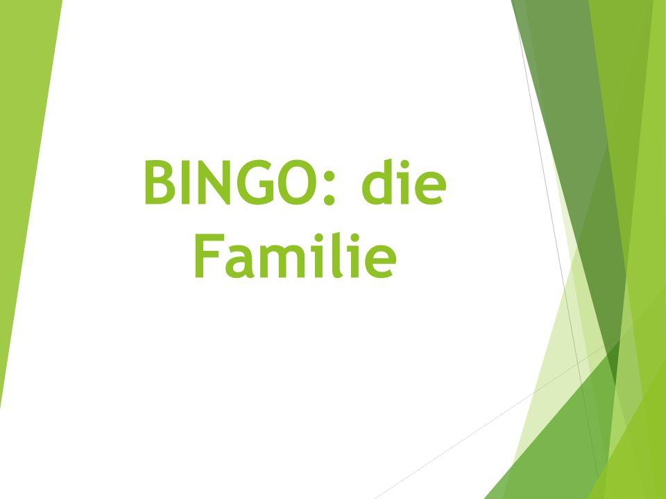 BINGO: die Familie