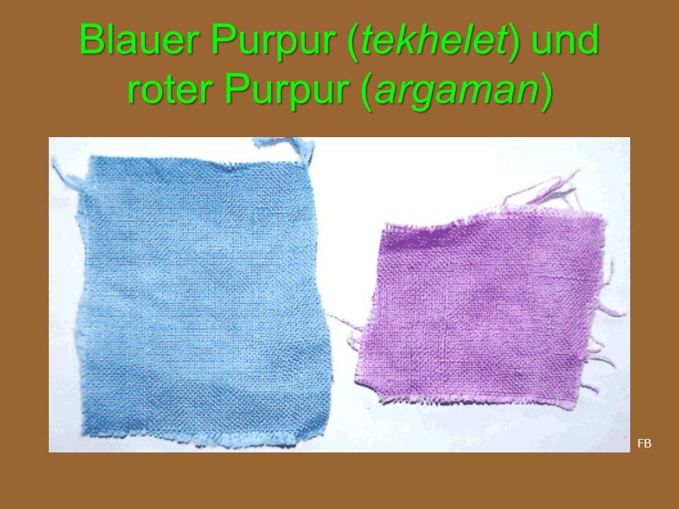 Blauer Purpur (tekhelet) und roter Purpur (argaman) FB