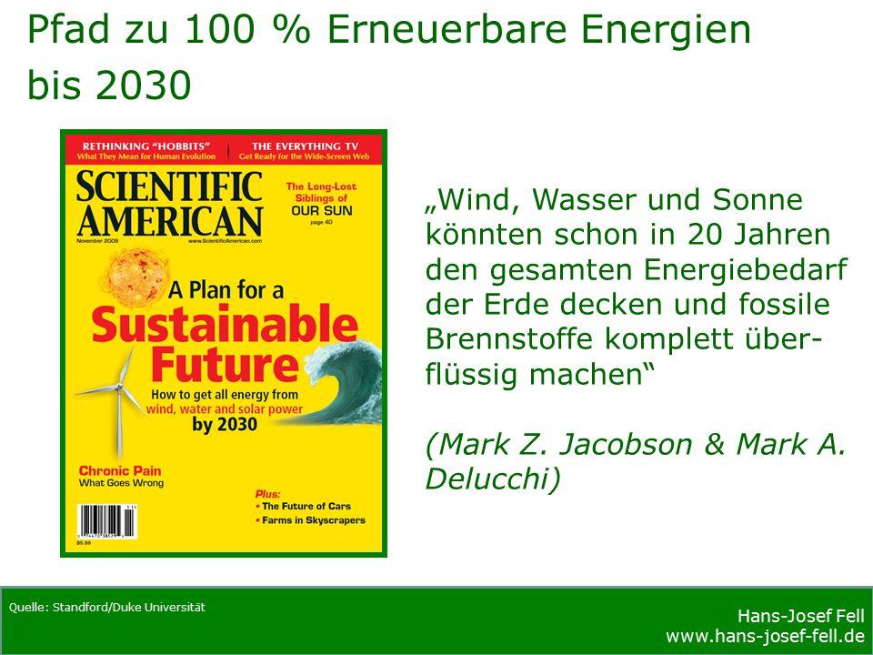 Hans-Josef Fell www.hans-josef-fell.de Hans-Josef Fell www.hans-josef-fell.de Beitrag der Erneuerbaren Energien zur Stromerzeugung in Deutschland