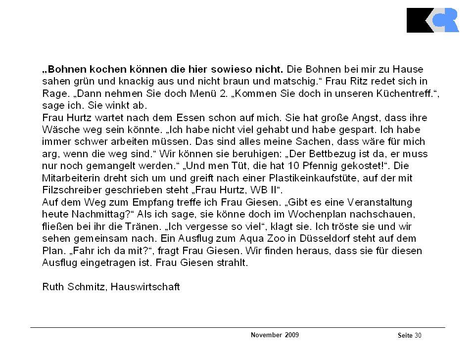 November 2009 Seite 30