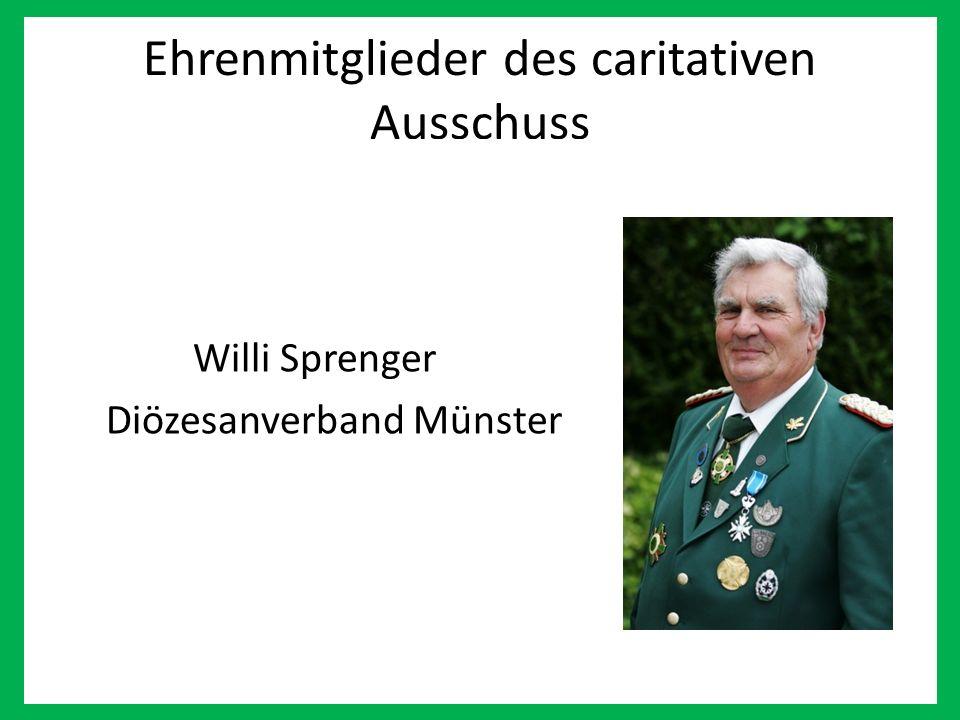 Ehrenmitglieder des caritativen Ausschuss Willi Sprenger Diözesanverband Münster