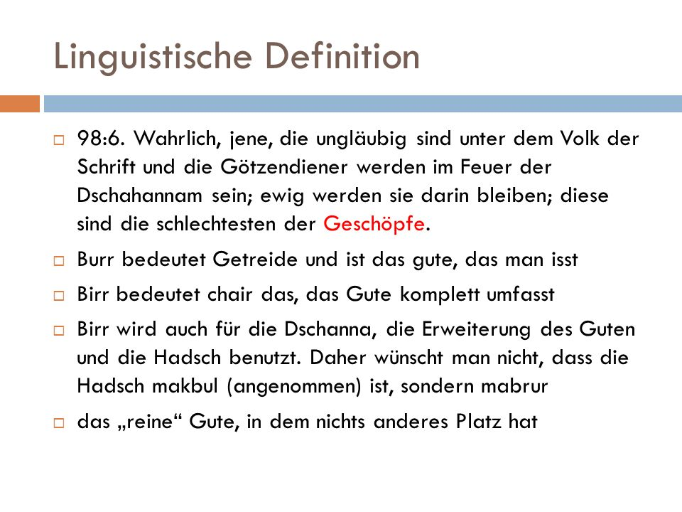 Linguistische Definition  98:6.
