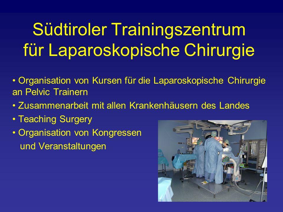 Organisation von Kursen für die Laparoskopische Chirurgie an Pelvic Trainern Zusammenarbeit mit allen Krankenhäusern des Landes Teaching Surgery Organisation von Kongressen und Veranstaltungen