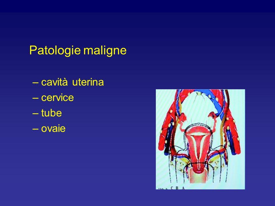 Patologie maligne –cavità uterina –cervice –tube –ovaie