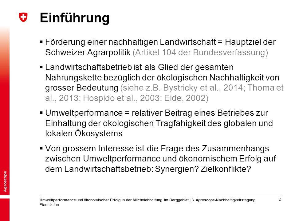 3 Umweltperformance und ökonomischer Erfolg in der Milchviehhaltung im Berggebiet | 3.