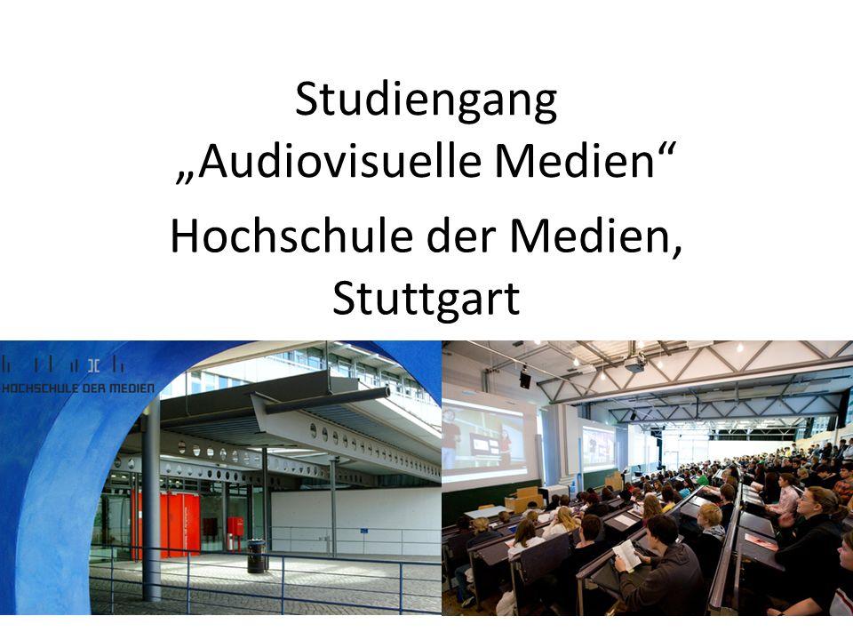 "Studiengang ""Audiovisuelle Medien Hochschule der Medien, Stuttgart"