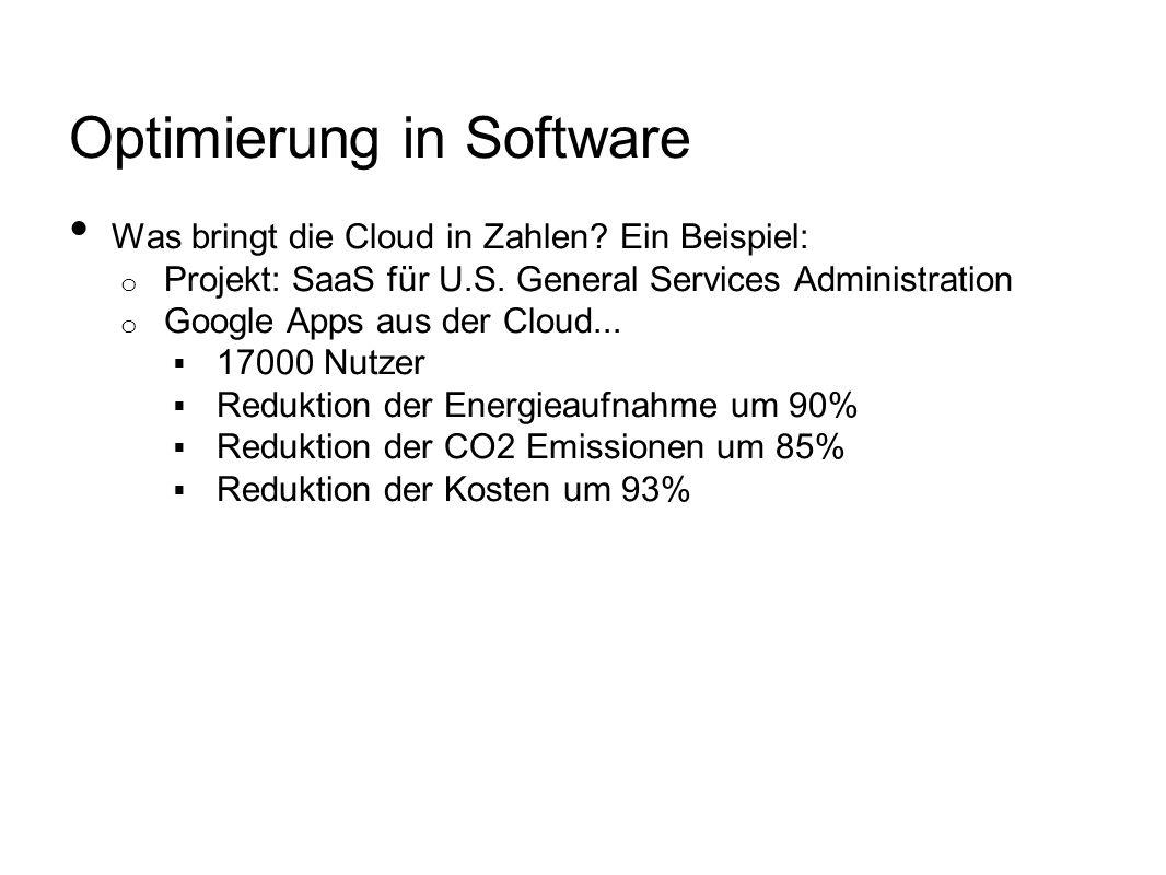 Optimierung in Software Was bringt die Cloud in Zahlen.