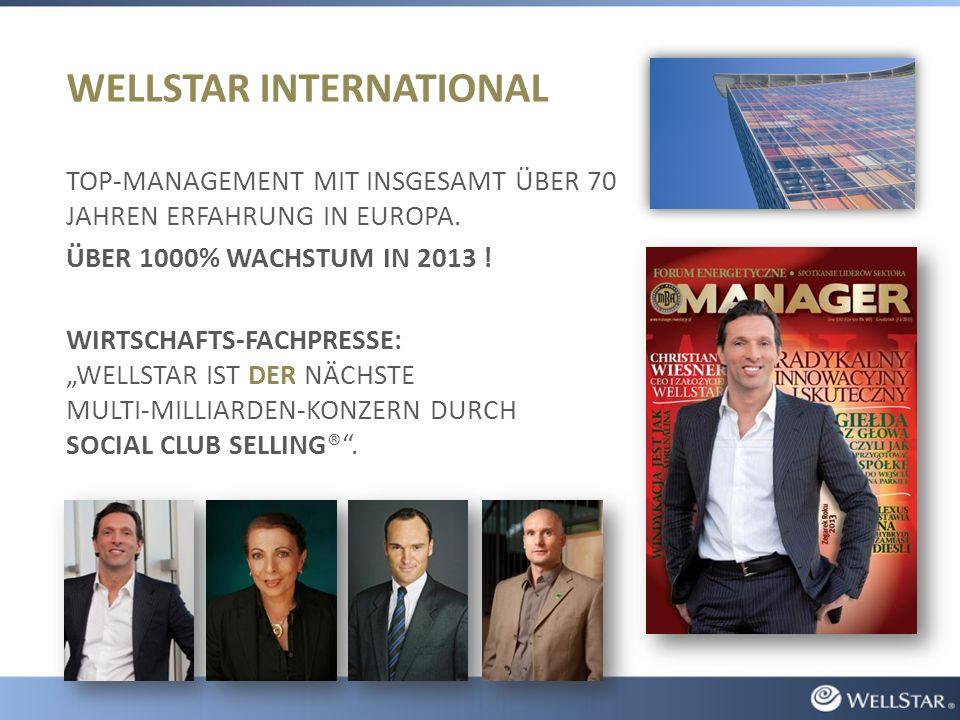 WELLSTAR INTERNATIONAL TOP-MANAGEMENT MIT INSGESAMT ÜBER 70 JAHREN ERFAHRUNG IN EUROPA.