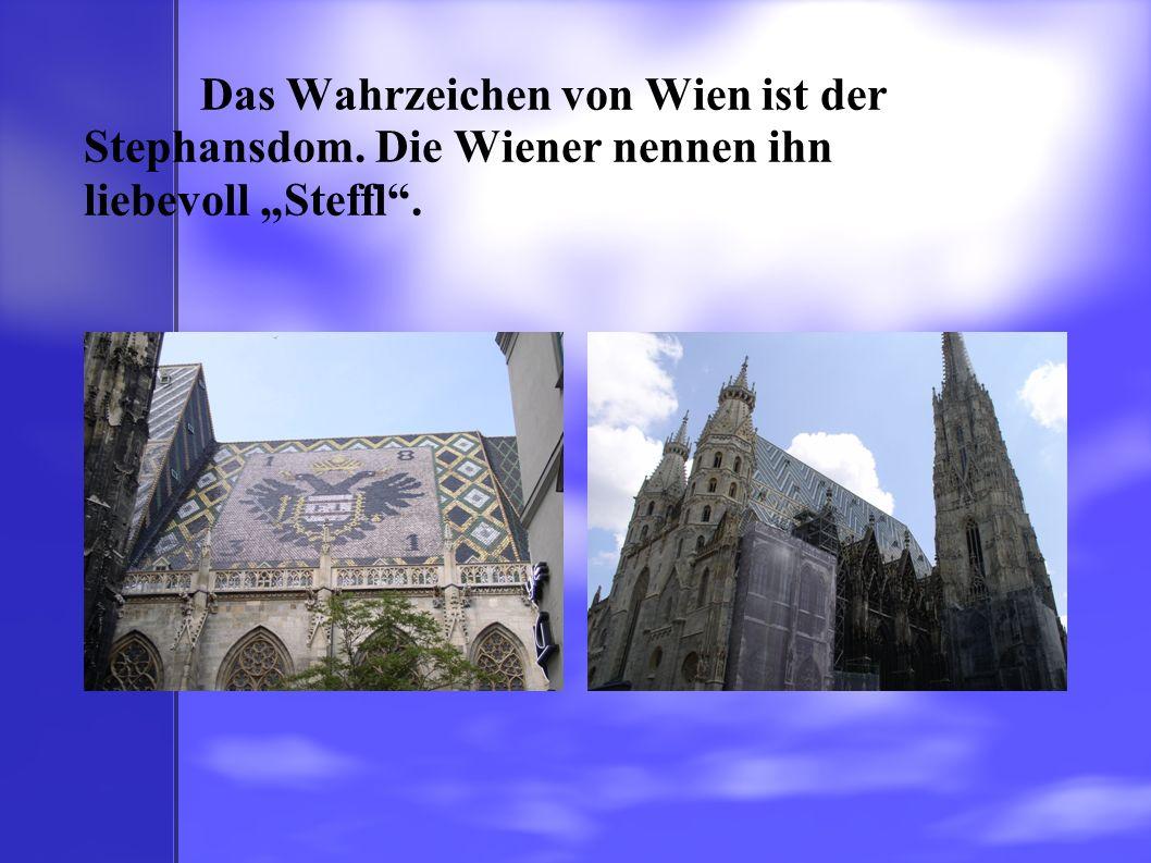 """Das Wahrzeichen von Wien ist der Stephansdom. Die Wiener nennen ihn liebevoll """"Steffl""""."""