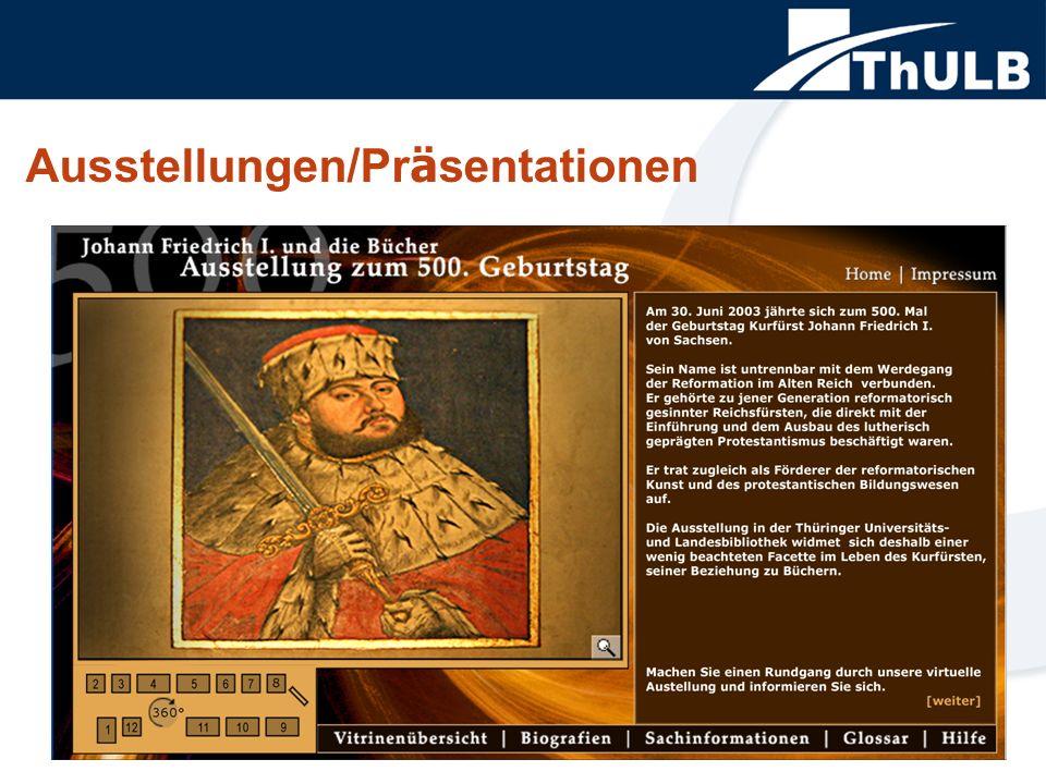 Weitere Projekte Briefbestände Fotosammlungen Handschriften und Handschriftenfragmente Alte Drucke © 2004 Thüringer Universitäts- und Landesbibliothek Jena