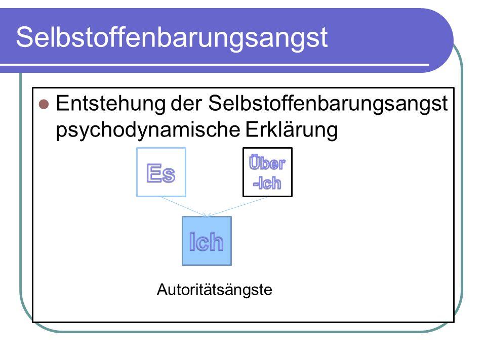Selbstoffenbarungsangst Entstehung der Selbstoffenbarungsangst psychodynamische Erklärung Autoritätsängste
