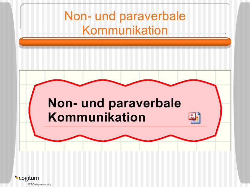 Non- und paraverbale Kommunikation