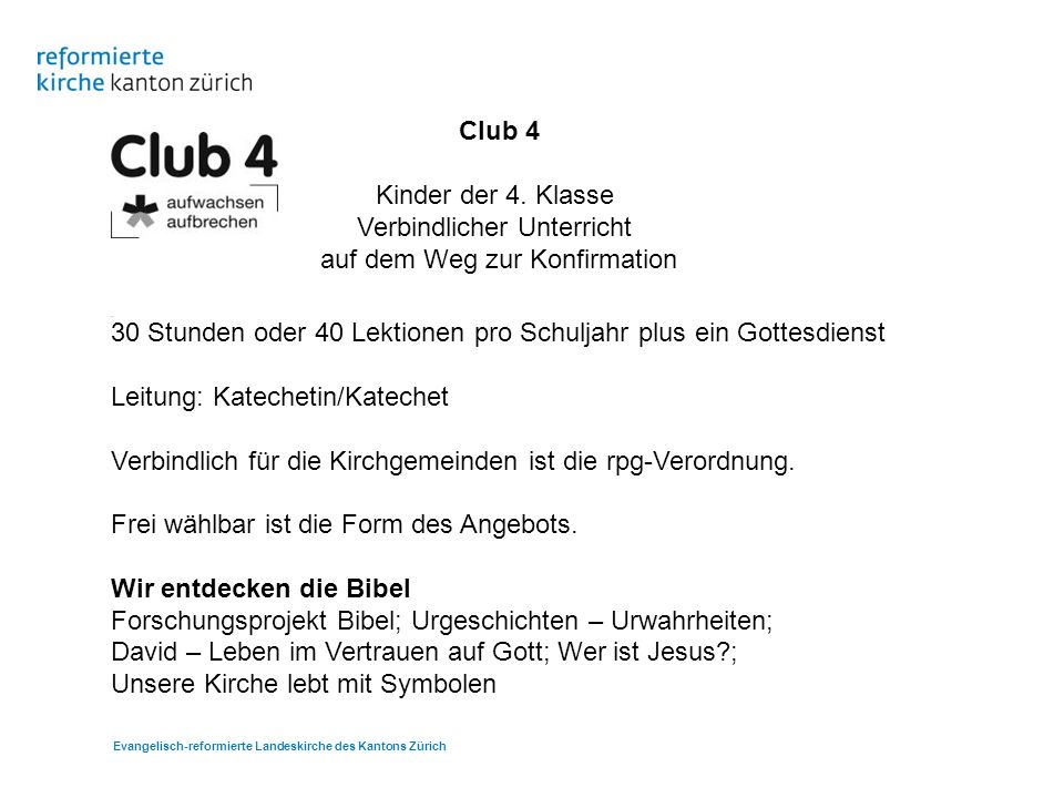 Club 4 Kinder der 4.