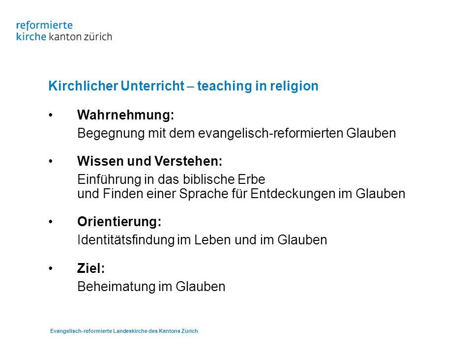 Evangelisch-reformierte Landeskirche des Kantons Zürich …auf dem Weg sein