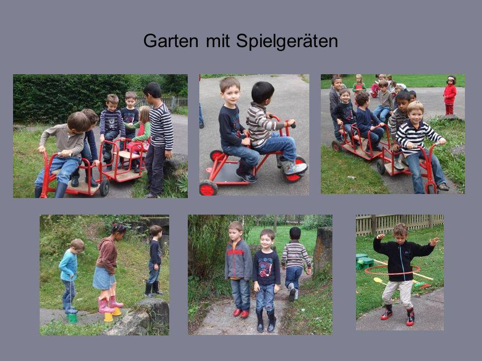 Garten mit Spielgeräten