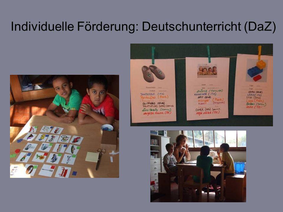 Individuelle Förderung: Deutschunterricht (DaZ)