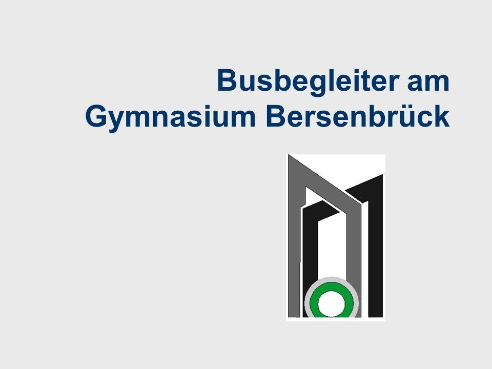 Busbegleiter am Gymnasium Bersenbrück