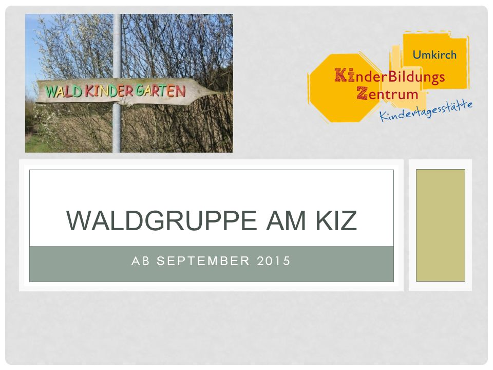 AB SEPTEMBER 2015 WALDGRUPPE AM KIZ
