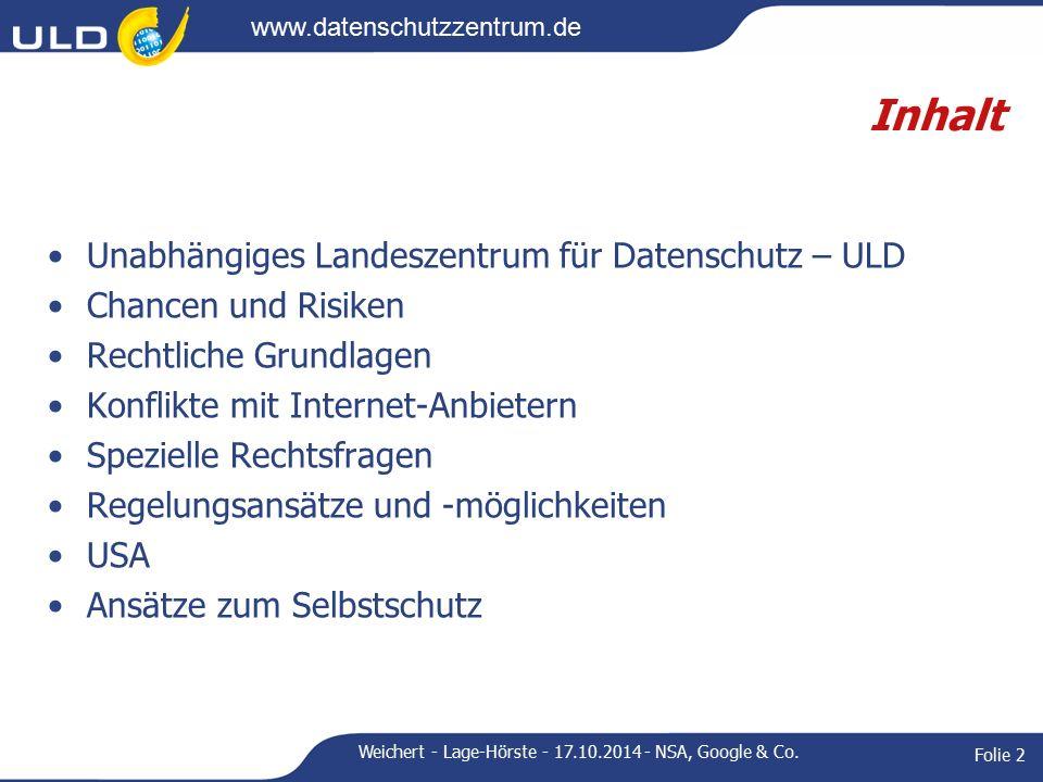 www.datenschutzzentrum.de Weitere Konflikte Facebook Polizeifahndung auf Facebook, Schulen bei Facebook Gesichtserkennung, Freundefinder Auskunftsverfahren Max Schrems (Wien) 1200 ausgedruckte Seiten, seitdem zigTsd.
