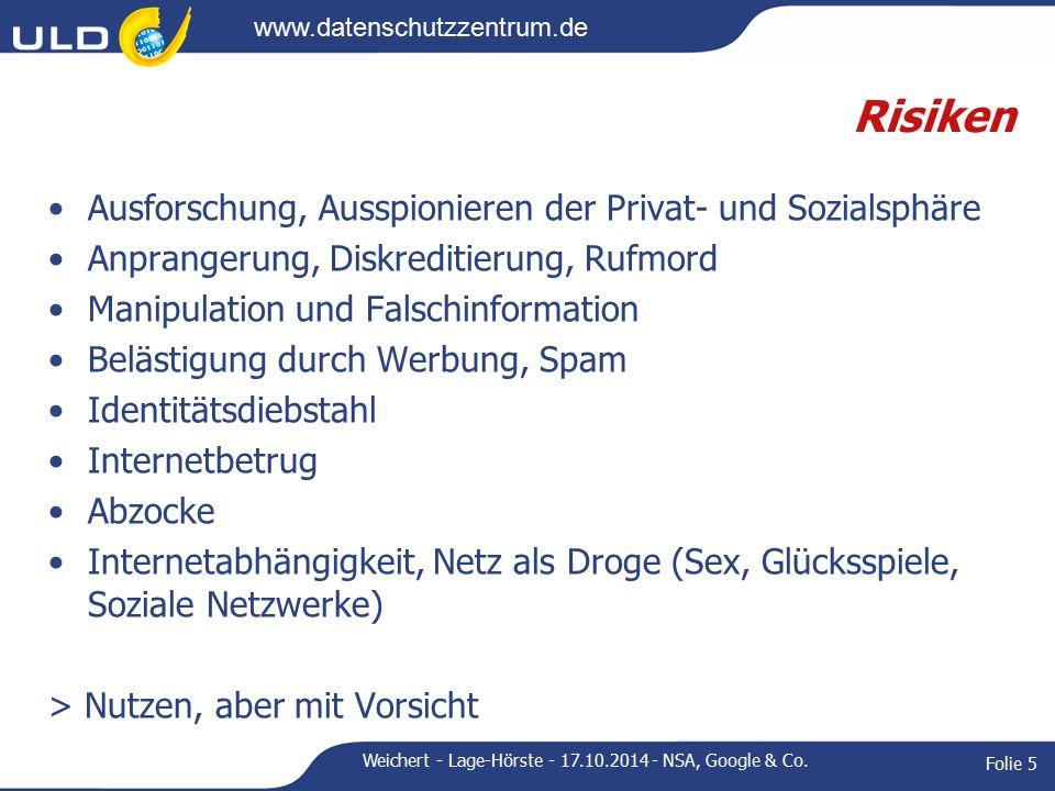 www.datenschutzzentrum.de Rechtliche Grundlagen Grundrechte auf Datenschutz, Telekommunikationsgeheim- nis, Meinungsfreiheit (Art.