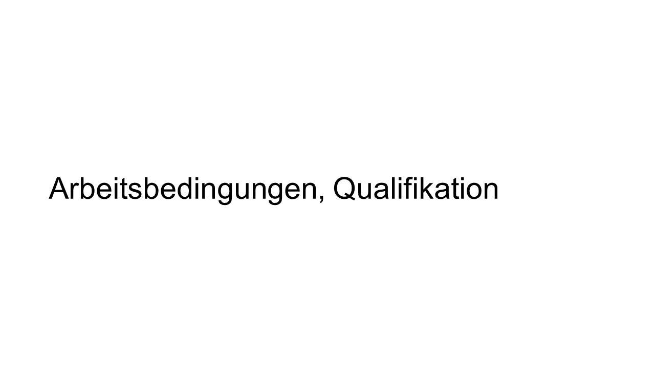 Arbeitsbedingungen, Qualifikation