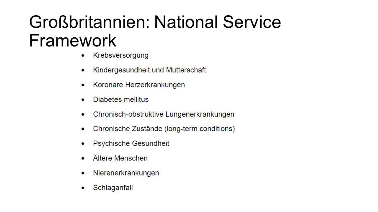 Großbritannien: National Service Framework