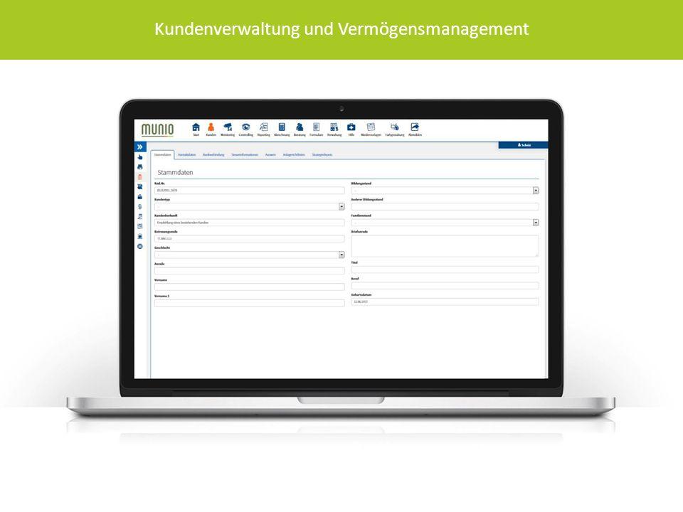 Kundenverwaltung und Vermögensmanagement