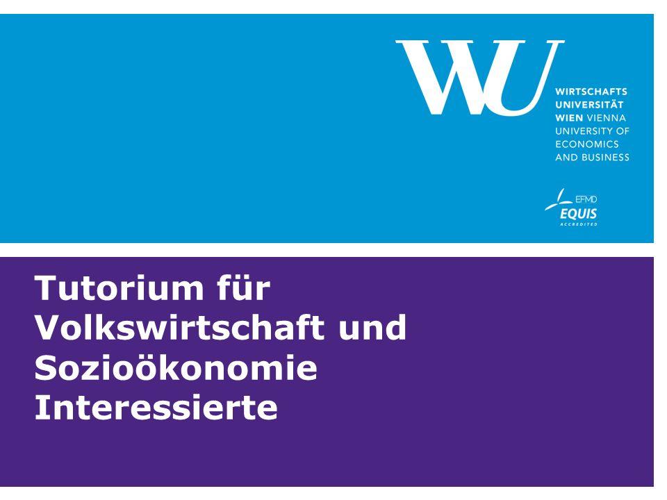 Tutorium für Volkswirtschaft und Sozioökonomie Interessierte