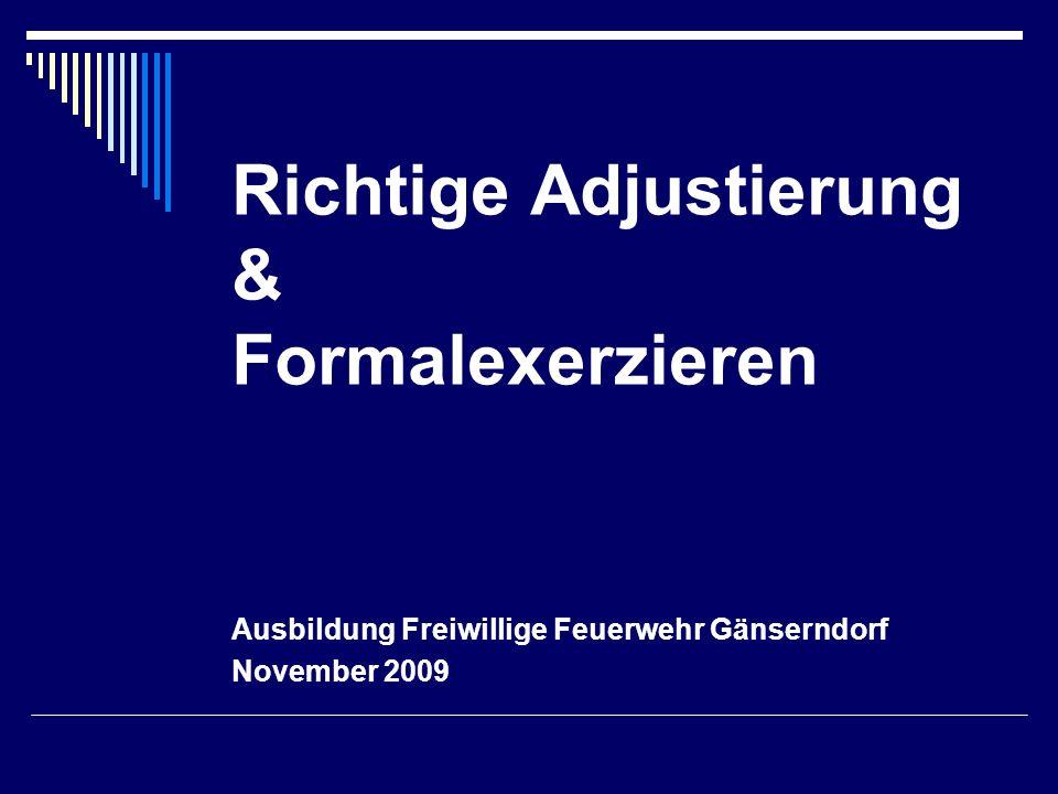Richtige Adjustierung & Formalexerzieren Ausbildung Freiwillige Feuerwehr Gänserndorf November 2009
