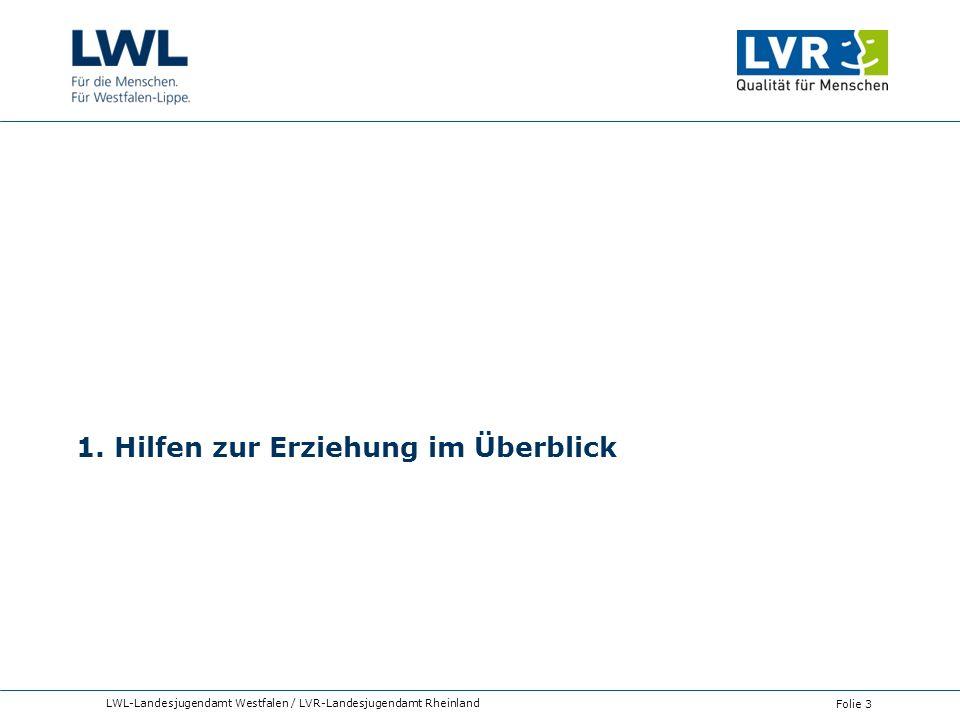 1. Hilfen zur Erziehung im Überblick LWL-Landesjugendamt Westfalen / LVR-Landesjugendamt Rheinland Folie 3