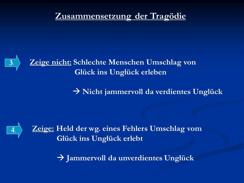 Zusammensetzung der Tragödie 3.3.