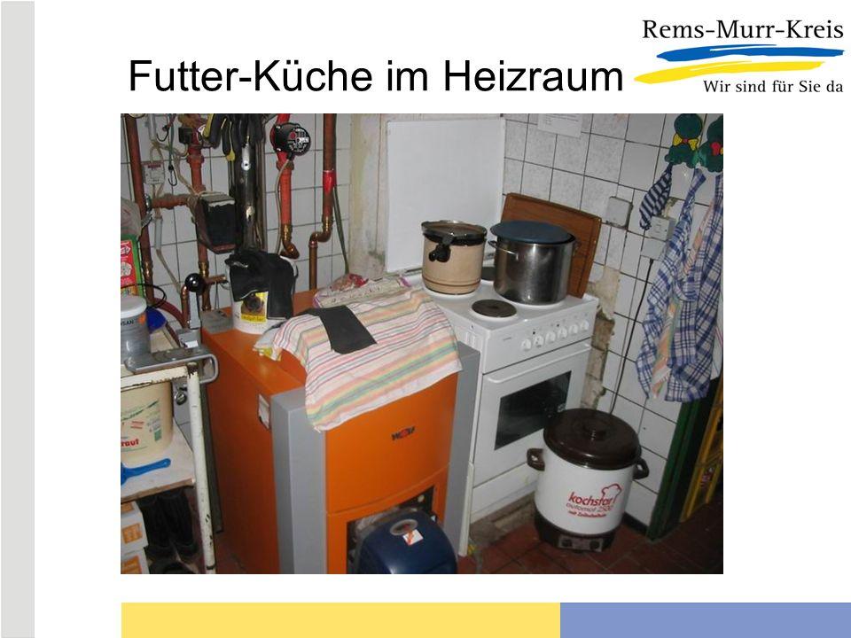 Futter-Küche im Heizraum