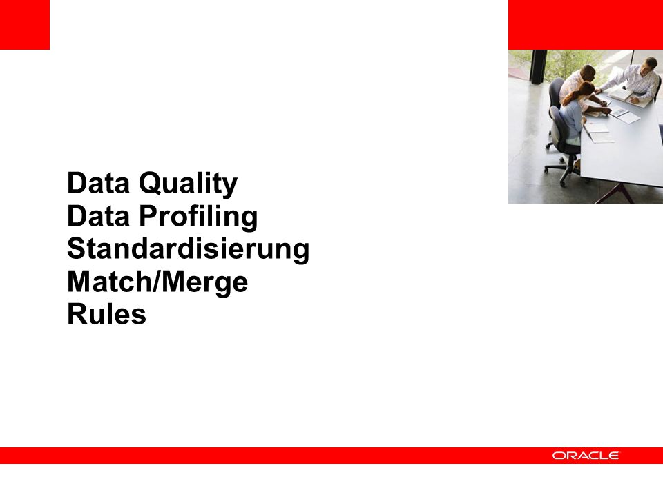Data Quality Data Profiling Standardisierung Match/Merge Rules