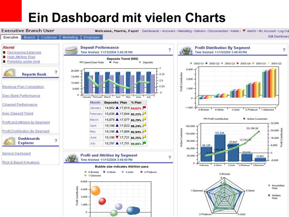 Ein Dashboard mit vielen Charts