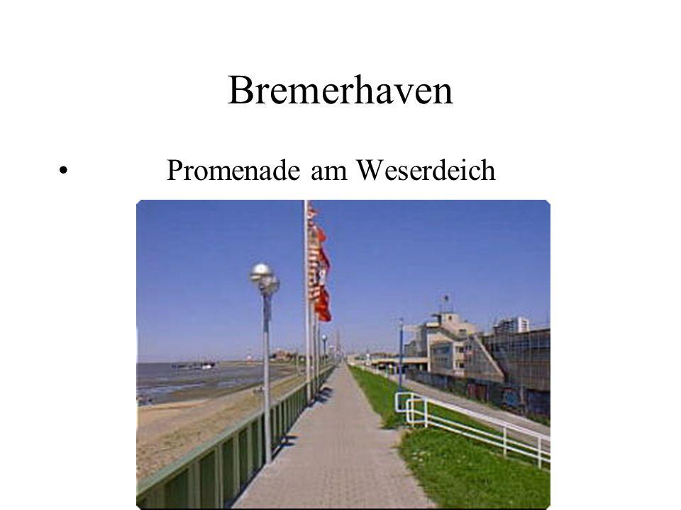 Bremerhaven Promenade am Weserdeich