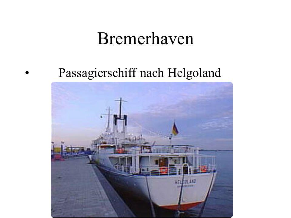Bremerhaven Passagierschiff nach Helgoland