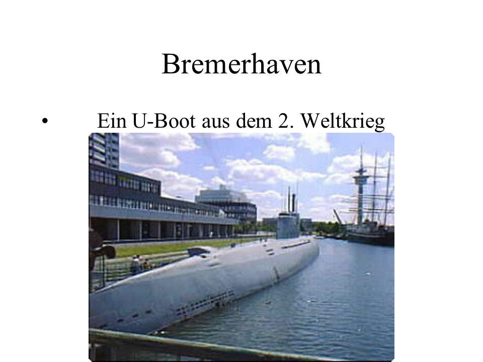 Bremerhaven Ein U-Boot aus dem 2. Weltkrieg