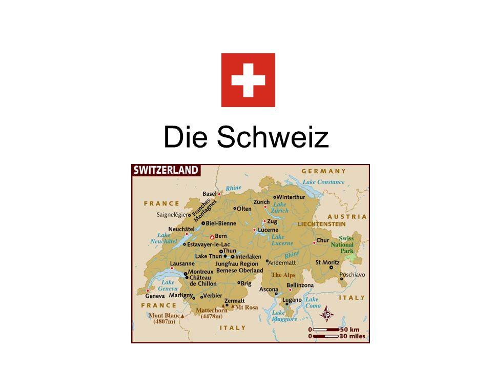 Was weisst du schon ueber die Schweiz.-Allgemeines Wissen Man spricht Franzoesisch in der Schweiz.