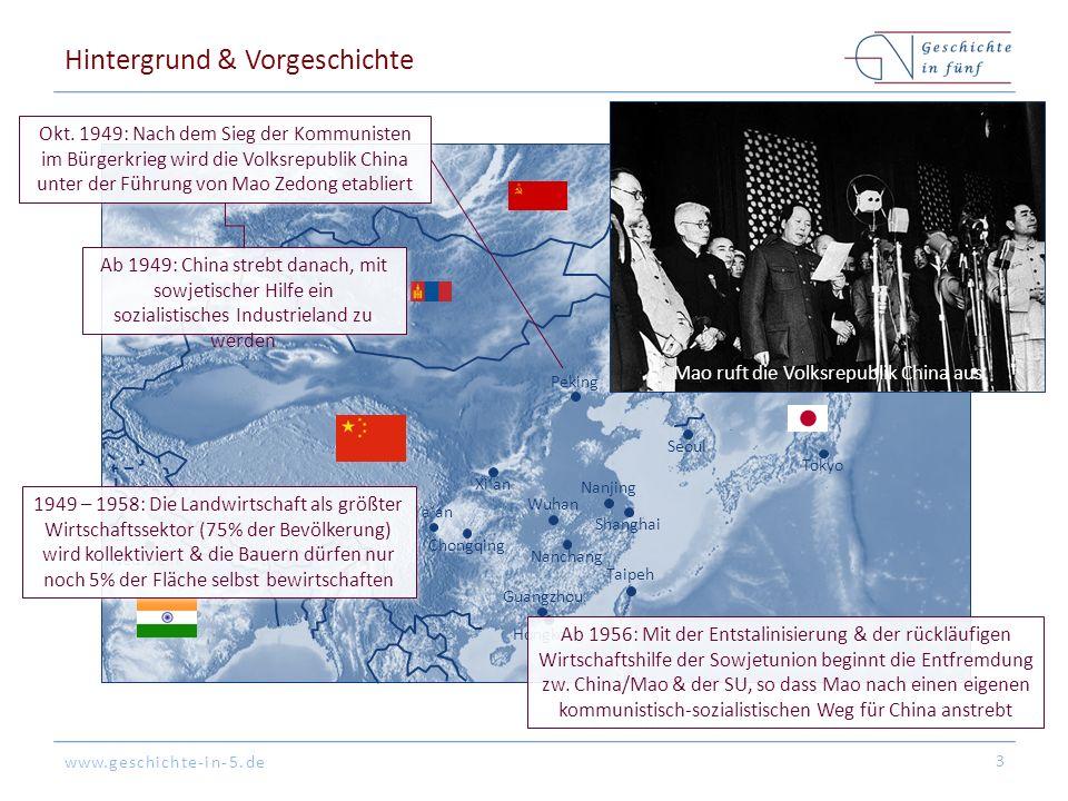 www.geschichte-in-5.de Hintergrund & Vorgeschichte 3 Peking Tokyo Hongkong Shanghai Guangzhou Seoul Nanjing Nanchang Ya'an Xi'an Chongqing Taipeh Wuhan Neu-Delhi Wladiwostok Okt.