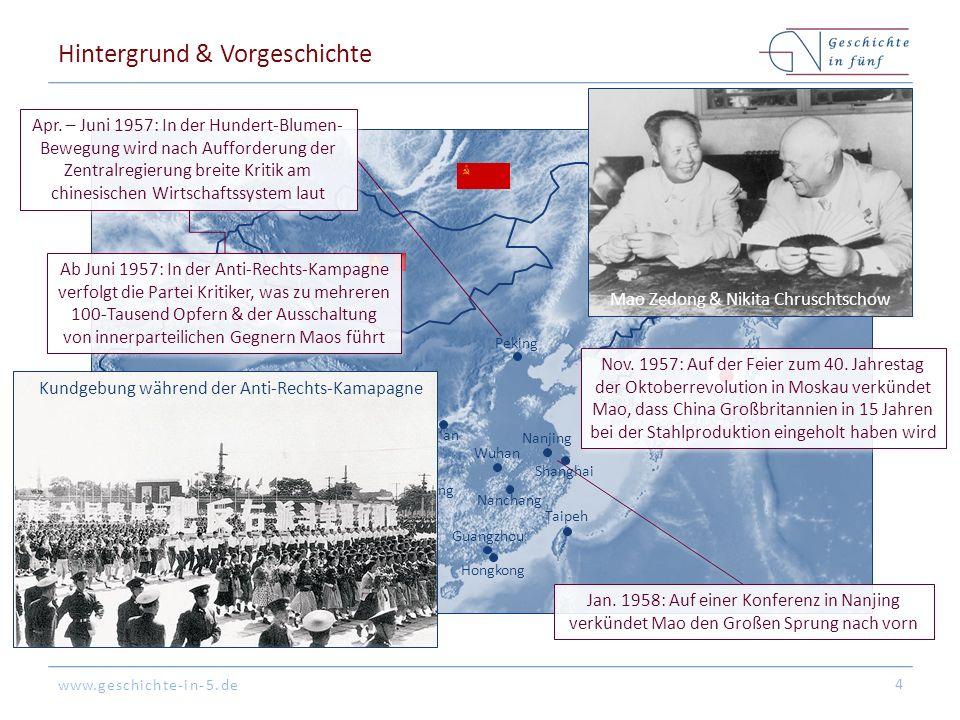 www.geschichte-in-5.de Hintergrund & Vorgeschichte 4 Peking Tokyo Hongkong Shanghai Guangzhou Seoul Nanjing Nanchang Ya'an Xi'an Chongqing Taipeh Wuhan Neu-Delhi Wladiwostok Apr.