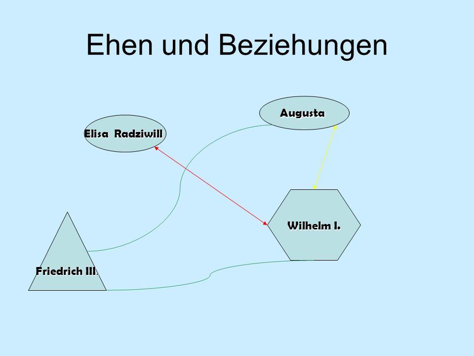 Ehen und Beziehungen Elisa Radziwill Augusta Wilhelm I. Friedrich III.