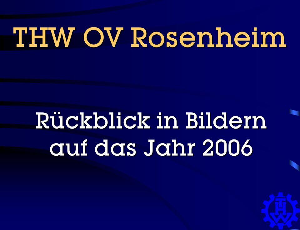 THW OV Rosenheim Rückblick in Bildern auf das Jahr 2006