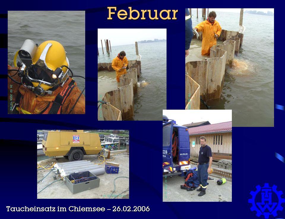Februar Taucheinsatz im Chiemsee – 26.02.2006