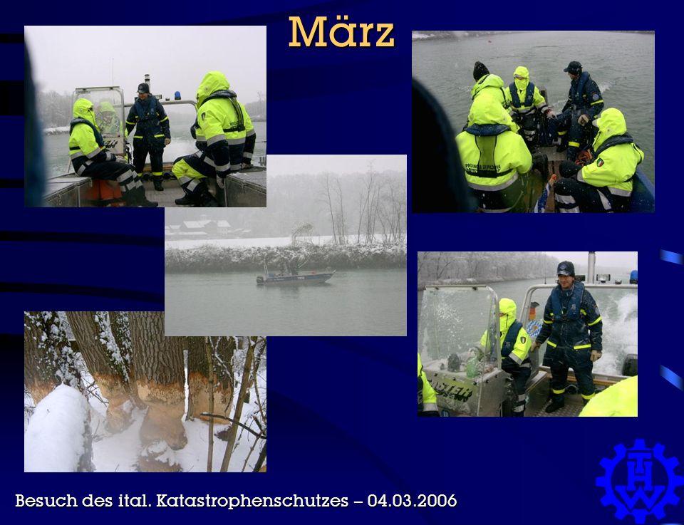 März Besuch des ital. Katastrophenschutzes – 04.03.2006