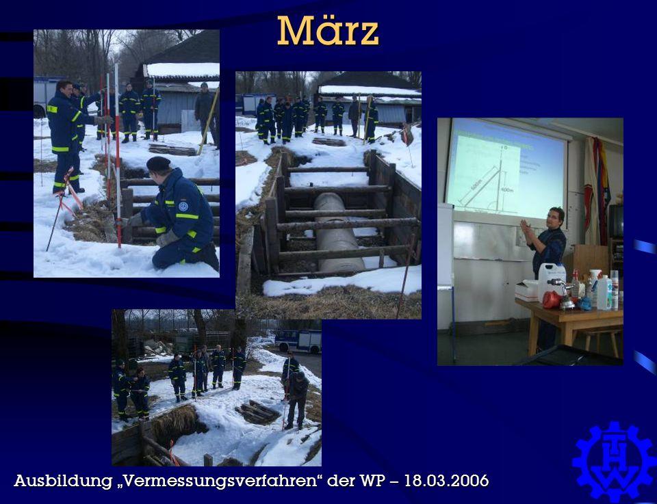 """März Ausbildung """"Vermessungsverfahren der WP – 18.03.2006"""