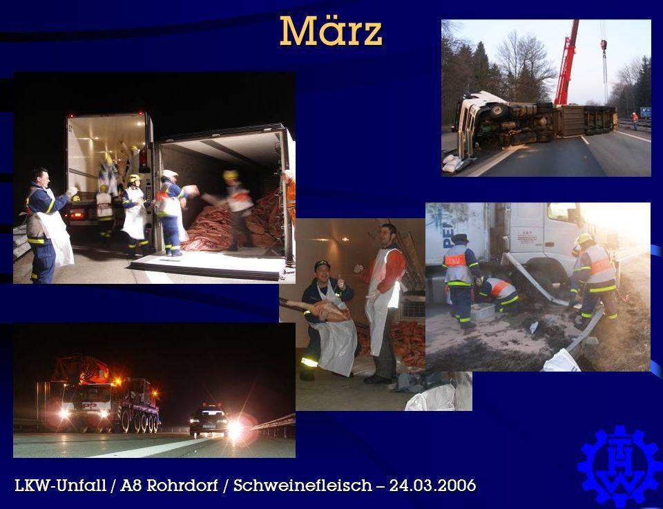 März LKW-Unfall / A8 Rohrdorf / Schweinefleisch – 24.03.2006